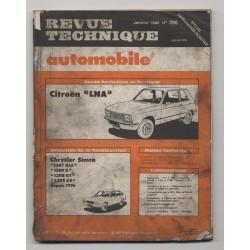 Revue Technique Automobile No 396  Citroën LNA Chrysler Simca...