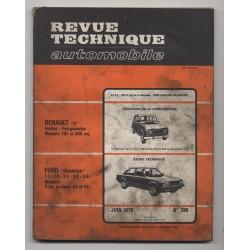 Revue Technique Automobile No 396 Ford Granada V4 et V6 Renault 4
