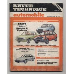 Revue Technique Automobile No 473 SEAT IBIZA RONDA P ET MALAGA Citroen CX
