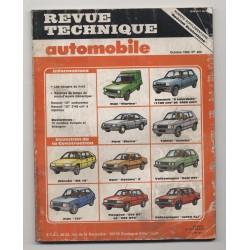 Revue Technique Automobile N° 460 Spécial évolution BX 19Gti Fiat Td Fiesta FSO 125......