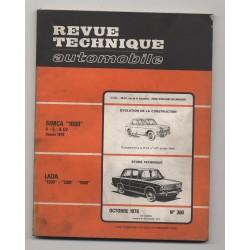 Revue Technique Automobile No 360 LADA 1200 1300 1500 SIMCA 1000