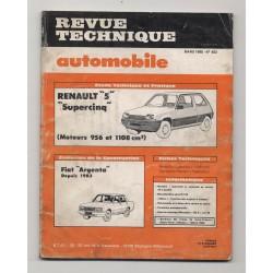 Revue Technique Automobile No 453 RENAULT 5 SUPERCINQ FIAT ARGENTA