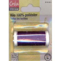 BOBINES FIL 200M polyester VIOLET FONCÉ  tous textiles a main ou machine CREA PECAM