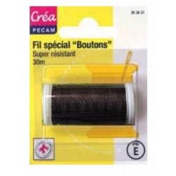 BOBINES FIL 30M polyester MARRON SPECIAL BOUTONS CREA PECAM