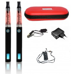 KIT COMPLET 2 Cigarette Electronique eGo Ce4 CLOPINETTE ROUGE