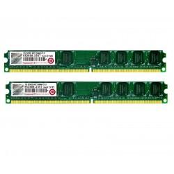 KIT MEMOIRE 2 GO TRANSCEND 2 x 1 Go DDR2 PC2-5400 667 MHZ