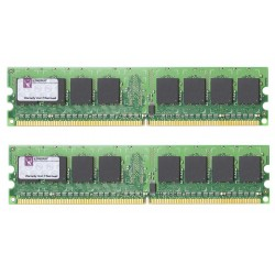 KIT MEMOIRE 2 GO Kingston 2 x 1 Go DDR2 800MHz PC2-6400 CL6 DIMM 240-Pin