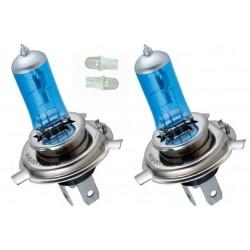 Kit Ampoules spectra H4 2 ampoules 90/100w 2 veilleuse bleu T10/5w