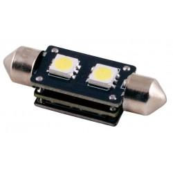 Ampoule Navette 37mm 2 LED C5W SMD 12V 3W T11