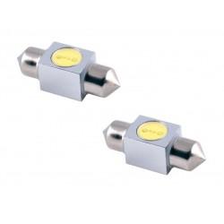 Ampoule Navette 31mm 2 LED C5W SMD 12V 1W T11