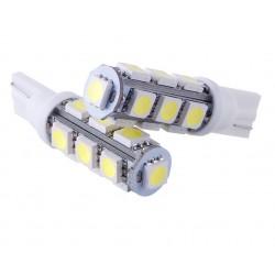 2 AMPOULE LED BLANC pour Veilleuse T10 13 LEDs SMD W5W