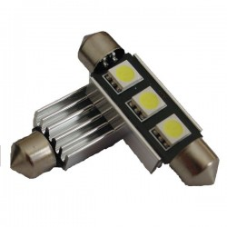 Ampoule Navette 42mm 3 LED C5W SMD 12V