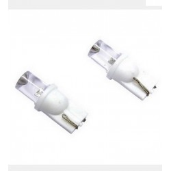 2 AMPOULES LED T10 WEDGEBASE 5W 12V BLANC REFLET XENON