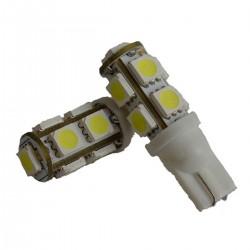 2 AMPOULE LED BLANC pour Veilleuse T10 9 LEDs SMD W5W EFFET XENON