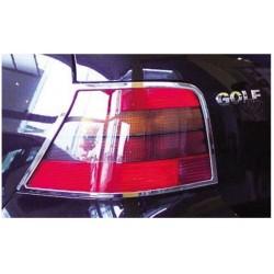 CONTOURS FEUX ARRIERES CHROME DROIT & GAUCHE  POUR VW GOLF IV