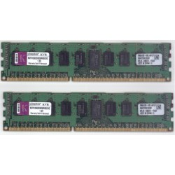 KIT MEMOIRE 4 GO KINGSTON 2 x 2 Go DDR3-1333 ECC PC3-10600R