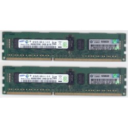 KIT MEMOIRE 8 GO SAMSUNG 2 x 4 Go DDR3-1333 ECC PC3-10600R HP 591750-071