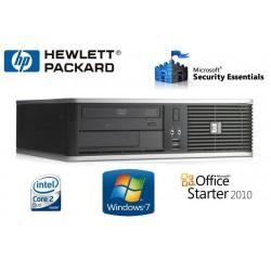 PC HP SFF DC7800 Intel Core 2 Duo  4 GO-HDD 80 GO GRAVEUR DVD WINDOWS 7 PRO