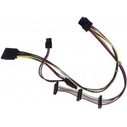 Câble alimentation ATX 4-Pin vers 3x SATA pour HP ProDesk 600 G1 710825-001