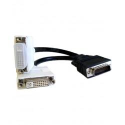 Câble Adaptateur video DMS-59 male vers double DVI femelle 20 cm