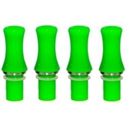 4 Drip Tip  Plastique Opaque VERT pour clearomizer V2  V3