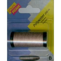 BOBINES FIL 200M polyester BEIGE tous textiles a main ou machine CREA PECAM NEUF