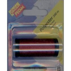 BOBINES FIL 200M polyester BORDEAUX tous textiles a main ou machine CREA PECAM