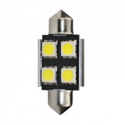Ampoule Navette 36 x 10 mm 4 LED Blanc C5W 12V CANBUS