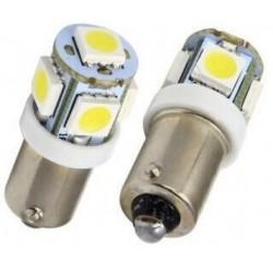 2 AMPOULE LED BLANC FEUX DE POSITION T4W 5 LED  BA9S EFFET XENON