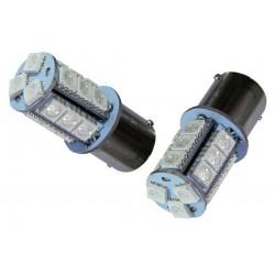 2 AMPOULE LED 18 smd 5050 ROUGE FEUX DE STOP POSITION  P21 W5W BAY15D 12V