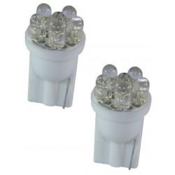 2 AMPOULE 6 LED BLANC Pour Veilleuse T10  W5W FISCHER 12v STYLE XENON