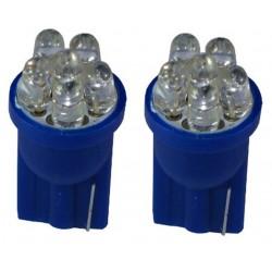 2 AMPOULE 6 LED BLEU Pour Veilleuse T10  W5W FISCHER 12v LOOK XENON