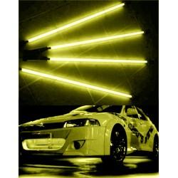 Kit 4 NEON TUNING RACE SPORT extérieur (2x36 + 2x48) lumière JAUNE