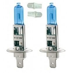 Kit Ampoules spectra H1 2 ampoules 100w 2 veilleuse bleu T10/5w