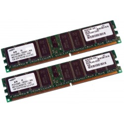 KIT MEMOIRE 2 GO SUN SAMSUNG 2x1 Go PC 2100 DDR 333 MHZ ECC 370-7671-01