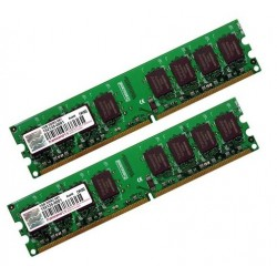 KIT MEMOIRE 2 GO DDR2 TRANCEND 2 x 1 Go  667 MHz PC2-5300