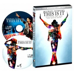 "DVD DELUXE COLLECTOR EDITION""Michael Jackson's This is it"" BOITIER METAL"
