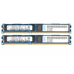 KIT MEMOIRE 8 GO IBM HYNIX 2x4 Go  PC3-12800R DDR3-1600 ECC 47J0164
