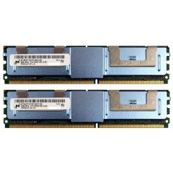 KIT MEMOIRE DDR2 MICRON IBM 2 Go (2x 1Go) PC2-5300FB 667 ECC  43X5059