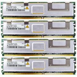 KIT MEMOIRE DDR2 QIMONDA 4 Go (4x 1Go) PC2-5300FB 667 ECC HYS72T128420HFN-3S-A