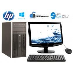 """PC  COMPLET HP ELITE 8100 CORE I3 530 4 GO 320 GO WIN 10 ECRAN 19"""""""