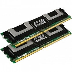 KIT MEMOIRE 2 GO Kingston 2x1 Go DDR2-667 PC2-5300 Fully Buffered