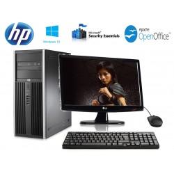 """PC  COMPLET HP ELITE 8100 CORE I5 650 4 GO 320GO WIN 10 ECRAN 19"""""""