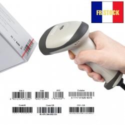 Lecteur Code Barre Douchette Scanner Portable USB Laser Câble 200cm