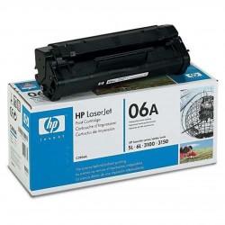 Toner NOIR  HP ORIGINAL POUR HP LASERJET 5L 6L 3100 3150 C3906A