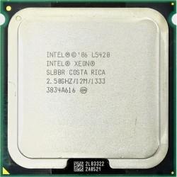 CPU Intel Xeon L5420 QUAD CORE 2.5 Ghz 12 Mo 1333Mhz LGA 771 SLBBR