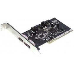 CARTE PCI Contrôleur MCL eSATA/SATA  2 port SATA interne  -  2 eSATA externe