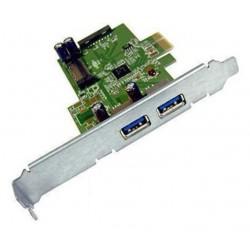 carte HP 661320-001 USB3  2 Ports EXTERNE + 2 interne PCIe