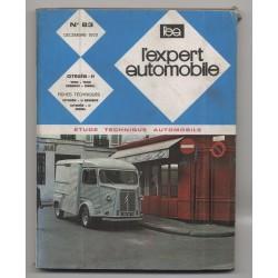 REVUE TECHNIQUE L'EXPERT AUTOMOBILE N°83 CITROEN H 1000 1600 Essence et Diesel