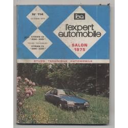 REVUE TECHNIQUE L'EXPERT AUTOMOBILE N°114 CITROEN CX 2000 2200
